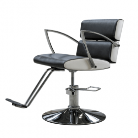luxe kappersstoel met chroom