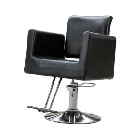 luxe zwarte kappersstoel